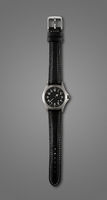 Wrist watch isolated on dark grey background