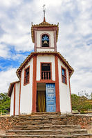 Ancient church in the city of Sabara, Minas Gerais