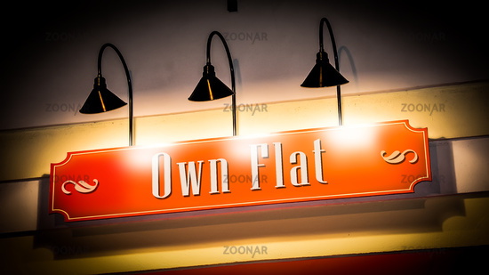 Street Sign to Own Flat