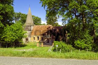 Dorfkirche Mšödlich, Gemeinde Lenzerwische, Brandenburg, Deutschland