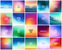 BIG set of 20 high quality square blurred nature backgrounds. With various quotes
