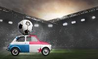 Panama car on football stadium