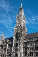 Das Neue Rathaus am Marienplatz in München