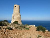 Torre Del Gerro, old tower in Denia.