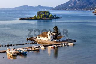 Korfu Corfu Griechenland Vlachernon Vlacherna Kirche Kanoni Insel Reise reisen