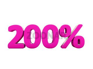 200 Percent Pink Sign