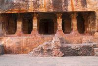 Cave 4 : Facade, Badami caves, Badami, Karnataka, India
