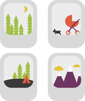 Assorted Photo Thumbnails Vector