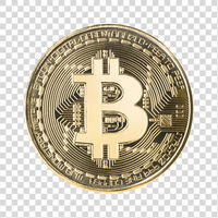 Bitcoin with clipping path