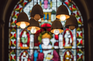 Victorian stained glass church window