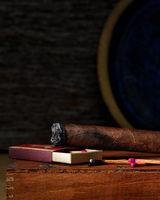 Cigar and Matches Still Life