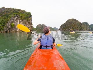 Stormy Ha Long Bay Vietnam