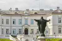 Beautiful Palanga Amber Museum in Tiskeviciai Palace and Botanical Garden in Palanga, Lithuania