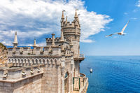 The Swallow's Nest castle in Gaspra, Crimea, Ukraine