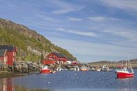 Hafen von Vingsand in Norwegen