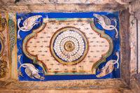 Paintings on the ceiling, Nandi Mandapa, Brihadisvara Temple, Tanjore, Tamil Nadu