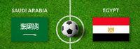 Football match Saudi Arabia vs. Egypt
