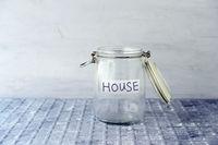 Saving jar with coins