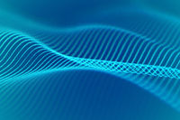 3D Sound waves, visual audio equalizer. Big data abstract visualization.