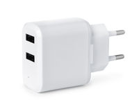 Double USB wall charger plug