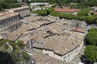 Blick auf die Ortschaft Viviers, Ardeche, Frankreich
