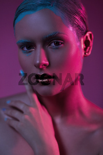Fashion beauty model with fantasy creative make up