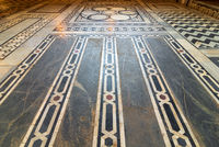 Marble floor decorated with geometrical patterns, Cairo, Egypt