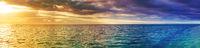 Seaview at sunset. Amazing landscape. Panorama