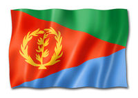 Eritrean flag isolated on white