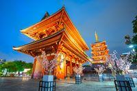 Sensoji Temple at night in Asakusa - Tokyo, Japan