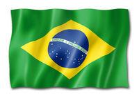 Brazilian flag isolated on white
