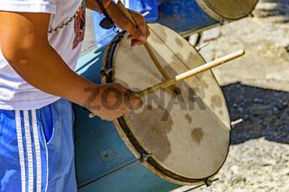 Brazilian ethnic drums player