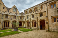 The Cloister Garden of Christ Church Cathedral. Oxford University. England