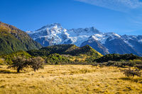 Mount Cook valley landscape, New Zealand