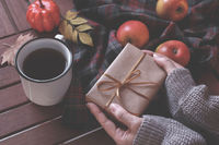 Woman's hands holding a gift