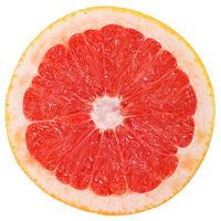 Grapefruit Pampelmuse Frucht geschnitten Hälfte Freisteller freigestellt isoliert