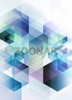 abstrakt geometrisch technologie konzept hochformat