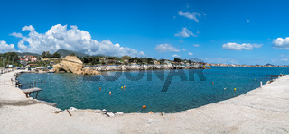 Panoramic view of the Laganas harbour
