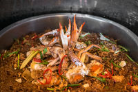 Steamed Crabs vermicelli
