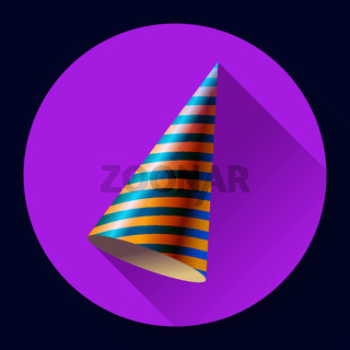 Party hat vector icon long shadow