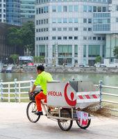 Garbage worker bicycle carriage, Singapore