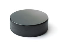 Black ice hockey puck