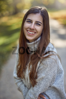 Attractive fashionable woman in evening light
