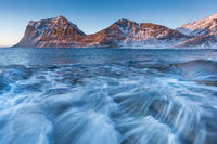 Lofoten Haukland im Winter