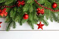 Christmas tree decoration background