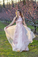 Young Brunette Teenager Posing For Prom Pictures