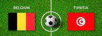 Football match Belgium vs. Tunisia