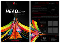 Abstract Flyer Template with Colorful Stripes