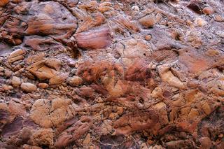 Conglomerate stone rock formation at Cachoeira Da Primavera, Spring Waterfall, Chapada Diamantina, Lencois, Brazil