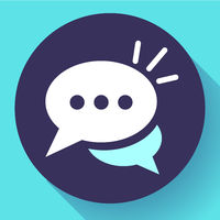 Live chat icon with dialog clouds vector. Speech bubble symbol for your web site design, logo, app, UI.